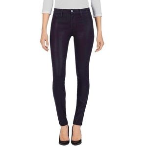 J Brand New 485 Super Skinny Laquered Jeans 26